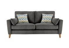 Clean, contemporary Scandi style 	Compact sofa, perfect for smaller spaces 	Soft upholstery in three cool, neutral shades