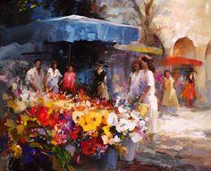 /willem-haenraets-artist/17340-painted-canvas.-flower-stall/|Order code: OCUK17340 - Painted canvas. Flower stall