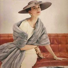 Revillon Emba Cerulean Sapphire Mink Ad, 1954