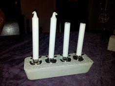 Concrete candlestick!