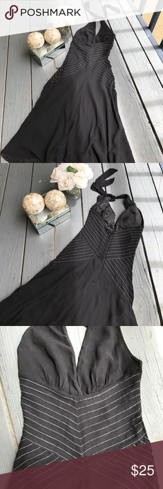 "BCBG 100% silk black dress Excellent condition size 2, fit for s or xs, bust: 14"", weist: 13"", leight: 37"" .  Thank you for looking and sharing. BCBG Dresses Midi"