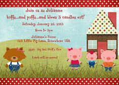 Keith & Liane: Our Family: Big Bad Wolf (and the three little pigs) Birthday Party