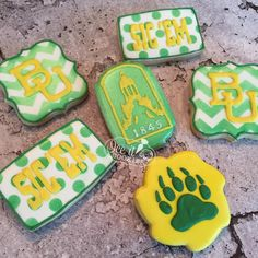 Adorable Baylor Homecoming cookies! They're almost too cute to eat!