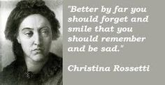 Christina Rossetti - when your brother is Dante Rossetti you get overlooked.