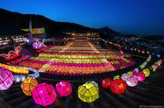 Thousands of Colorful Lanterns Celebrate Buddha's Birthday - My Modern Met