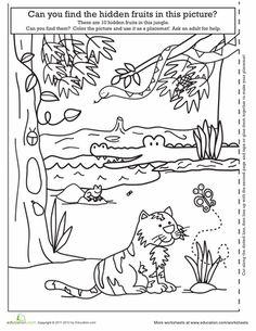 Safari Coloring Page Safari animals Worksheets and Kindergarten