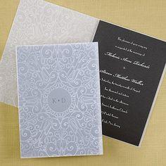 Embossed Sheer Invitation - Black Shimmer - Wedding Invitations - Wedding Invites - Wedding Invitation Ideas - View a Proof Online - #weddings #wedding #invitations