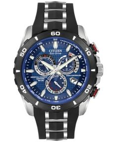 Citizen Men's Perpetual Chronograph AT Eco-Drive Black Bracelet Watch 45mm AT4021-02L