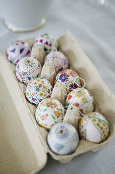 Spring Floral Easter Egg Designs