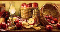 Basket of Apples Wall Border KE4914BDB - Wallpaper & Border | Wallpaper-inc.com