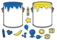 * Doe alles in de juiste verfpot! Montessori Activities, Color Activities, Kindergarten Activities, Activities For Kids, File Folder Activities, File Folder Games, Preschool Colors, Teaching Colors, Color Shapes