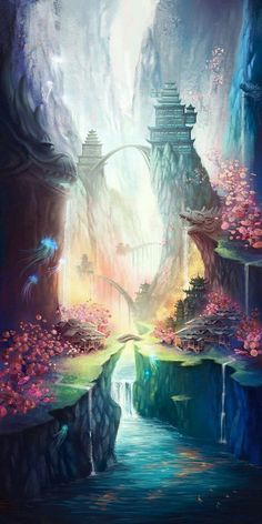 A Place of Peace #OrientalInspired #FantasyArt #FantasyScapes #Peace #Beauty #Temple
