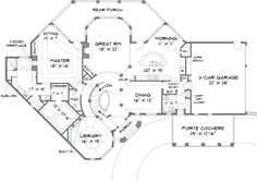 First Floor Plan image of Stone Pond House Plan