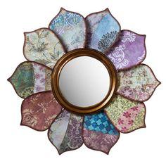 Cape Craftsmen Floral Pattern on Pattern Wall Mirror