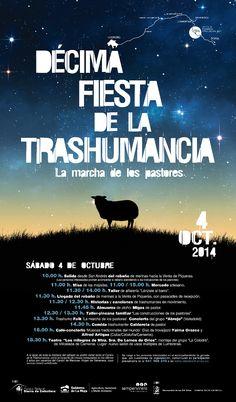 Cartel de la Trashumancia 2014. Sierra de la Cebollera. La Rioja.