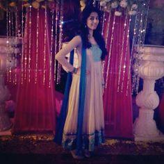 Cream Indian Anarkali suit