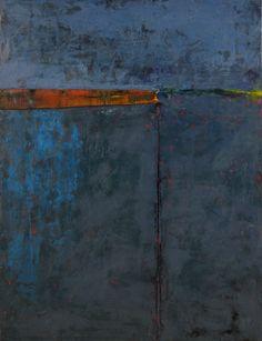 "graceann warn -Row , 2012  40"" x 30"" x 1.5 ""   Encaustic, oil, and object on wood panel"