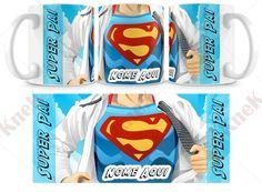 Caneca Super Pai - Personalizada Encomende por e-mail: knek@knek.com.br