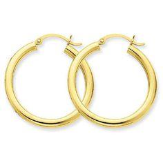 3 mm Round Hoop Earrings https://www.goldinart.com/shop/14k-earrings/3-mm-round-hoop-earrings #14KaratGold, #Earrings