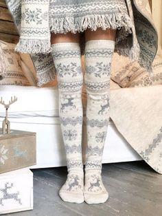 Women Socks Over Knee Camel Animal Photo Winter Customized For Christmas