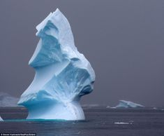 Towering: This iceberg looks like it has been carved by a sculptor