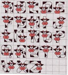 vaca alfabeto
