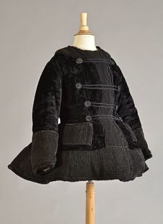 Child's winter jacket, 1860s | In the Swan's Shadow