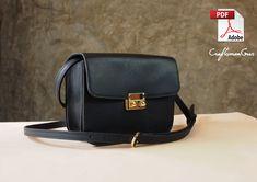 Boxy Bag. Leather Bag. PDF Pattern. Pdf Patterns, Craft Patterns, How To Make Leather, Leather Bag Pattern, Stitch Lines, Wallet Pattern, Leather Craft, Leather Wallet, Letter Size