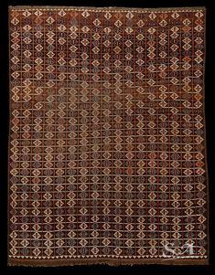 An Ersari Beshir main carpet, Sud Turkestan or Afghanistan, 2nd half of 19th century, pile, weft and warp in wool, 235 x 185 cm   A highly geometrical design tribal carpetin good condition.