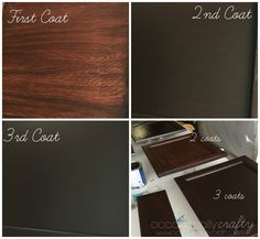 Transform your Golden Oak Cabinets with Java Gel Stain from Occasionally Crafty
