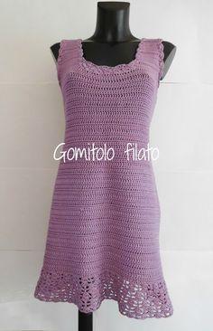 Gomitolo filato: Vestito lilla all'uncinetto https://www.facebook.com/gomitolofilato