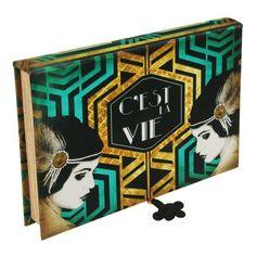 Trevisan ♥ Caixa Aneis Art Deco Turquesa