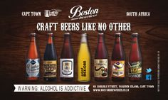 Our range of Boston Brewery, Craft Beer Brands, Africa Craft, Beer Bottle, South Africa, Brewing, Alcohol, Crafts, Rubbing Alcohol