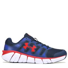 c573e8ce8fe1e Under Armour Kids  Jettison Running Shoe Grade School Shoes (Academy  Blue Red)