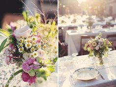 Lovely and wild Floral Centerpieces, Wedding Centerpieces, Wedding Tables, Paris Wedding, Wedding Blog, Wedding Ideas, Floral Wedding, Wedding Flowers, French Wedding Style