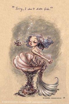 cute, fish, illustration, mermaid, underwater   Mermaid, Merfolk ...