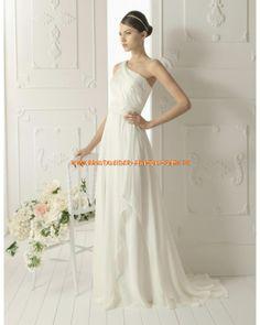 2013 sexy Bodenlange rückenfrei Brautmode aus Chiffon im Kolumnestil online