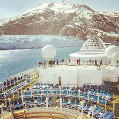 Top deck. Top notch. #glacierbay #alaska #travel #cruise