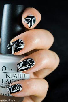 Black and White Nail Art   Trend   Fashion