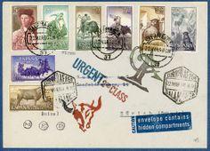 The Bull Ring. Original Mail Art by Nick Bantock.