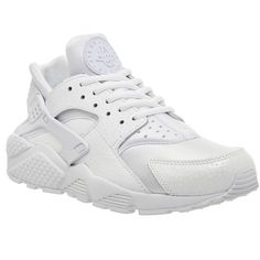 Nike Air Huarache Pearl Pack ($150) ❤ liked on Polyvore featuring shoes, athletic shoes, nikes, sneakers, trainers, unisex sports, white mono prm w, nike footwear, sporting shoes and sports shoes