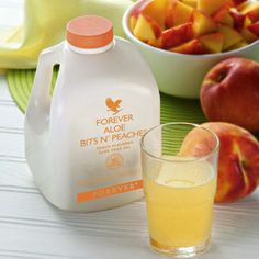 Forever Aloe Bits N'Peaches is pure nutritious pieces of aloe vera bathed in the flavour of sun-ripened peaches. This is a natural and fruity drink, ideal for all of the family.
