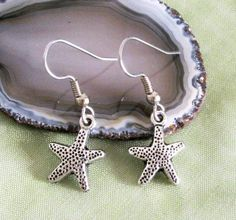 STARFISH Antiqued Silver Plated Charm Dangle by BusyBeeBumbleBeads