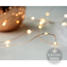 Led String Lights  Copper Wire  Rustic Wedding by ElectricCrowns