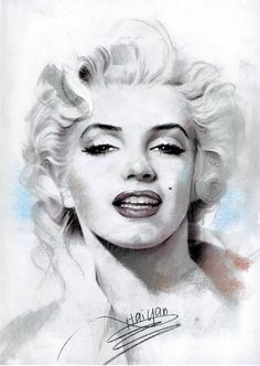 painting of marilyn monroe, artist: Haiyan