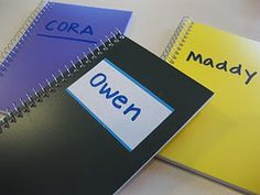 Everyday name books - easy way for little ones to practice writing their names every day.
