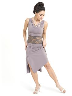 Draped neckline tango dress / London Tango Boutique