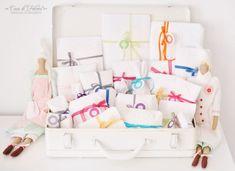 DIY Adventskalender No.21 weiss mit bunten Bändern I Casa di Falcone