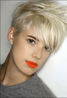 i sort of want this haircut.. but then i'd have to wear tons o make up everyday to feel girly