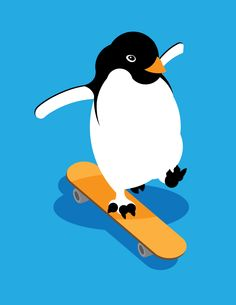board penguin